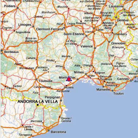 Infos sur carte france sud arts et voyages for Booking sud de la france